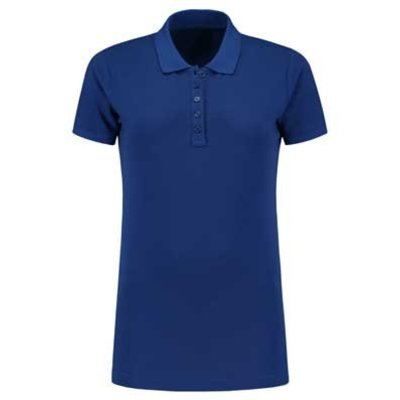 Lemon & Soda L&S damespolo Basic Cotton Elasthan royal blue
