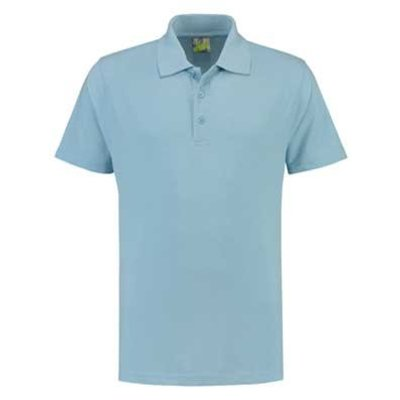 Lemon & Soda L&S unisex polo Basic Mix 60 graden wasbaar lichtblauw