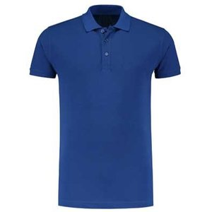 L&S unisex polo Basic Cotton Elasthan royal blue