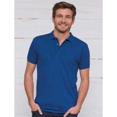 L&S unisex polo Basic Cotton Elasthan royal blue