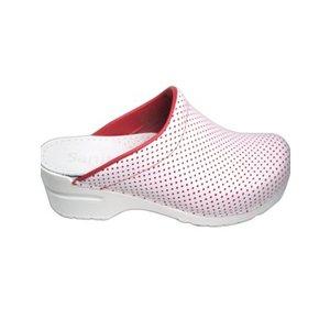 Sanita Sanita Clogs wit/rood