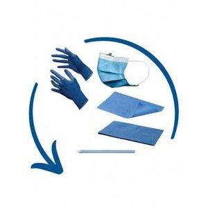 Disposables pakket excl. hoofdsteunzakken midden blauw