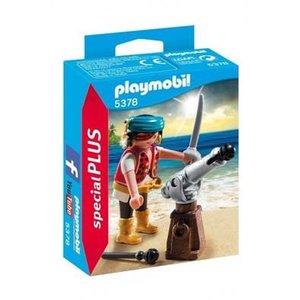 Playmobil Playmobil Plus P5378 Piraat met bronzen scheepskanon