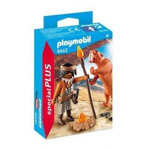 Playmobil Playmobil Plus 9442 Neanderthaler met sabeltandtijger