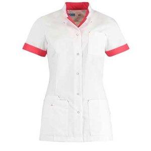 De Berkel Damesjas Jillian kort wit/oriëntal pink