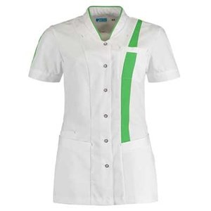 De Berkel Damesjas Lara wit/fashion green