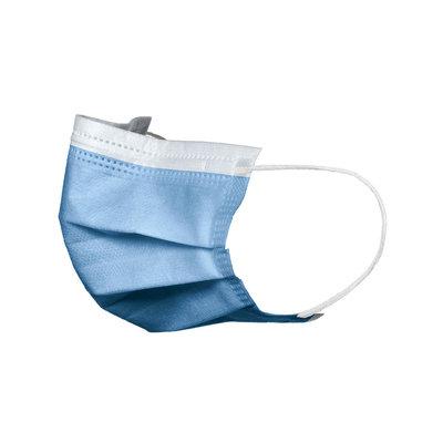 Mondmaskers Topmask midden blauw