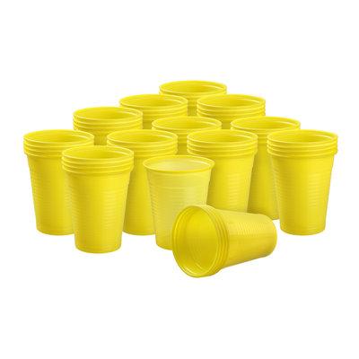 Drinkcups plastic geel 180 ml