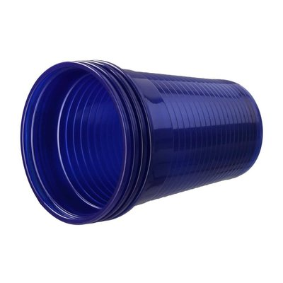 Drinkcups plastic donkerblauw 180 ml