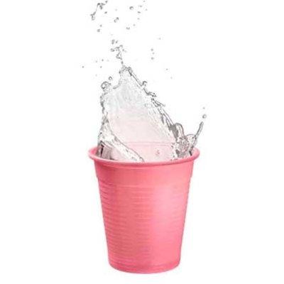 Drinkcups plastic roze 180 ml