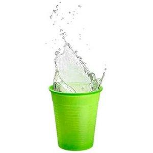 Drinkcups plastic fresh green 180 ml