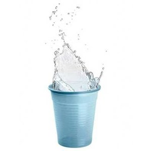 Drinkcups plastic midden blauw 180 ml