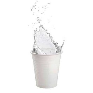 Drinkcups plastic wit 180 ml