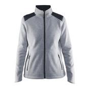 Craft Craft Noble Zip Jacket Heavy Knit fleece grijs-melange