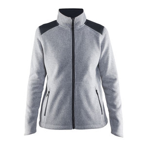 Craft Craft Noble Zip Jacket Heavy Knit fleece grijs-melange