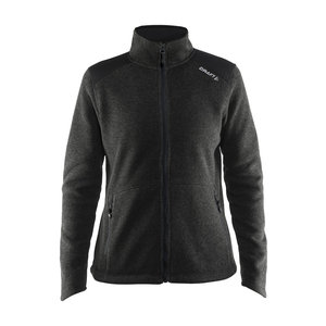 Craft Craft Noble Zip Jacket Heavy Knit fleece black melange