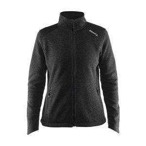 Craft Craft Noble Zip Jacket Heavy Knit fleece black melange
