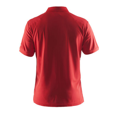 Craft Craft poloshirt piqué classic bright red heren