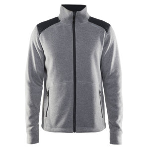 Craft Craft Noble Zip Jacket Heavy Knit fleece grey melange heren