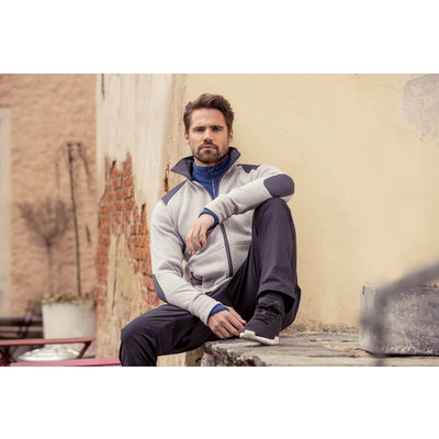 Craft Craft Noble Zip Jacket Heavy Knit fleece grey melange heren