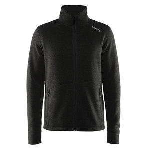 Craft Craft Noble Zip Jacket Heavy Knit fleece black melange heren
