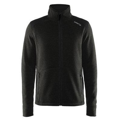 Craft Craft Noble Zip Jacket Heavy Knit fleece black melange heren