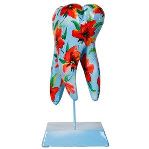 Sculptuur Molaar Rode Bloem