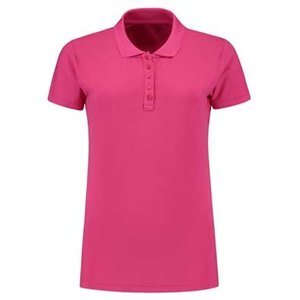 Lemon & Soda L&S damespolo Basic Cotton Elasthan fuchsia
