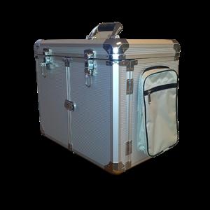 Pedicurekoffer met trolley aluminium