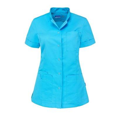 De Berkel Damesjas Jillian kort azur blauw