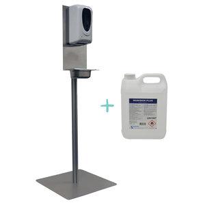 ACTIE! Desinfectiezuil RVS + 5 liter jerrycan Maniskin alcohol- gel
