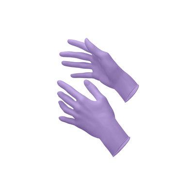 Style Latex handschoenen maat S lila poedervrij