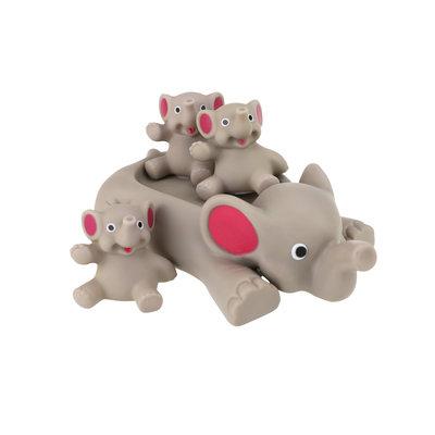 Drijvende olifantje met olifantjes ( VOORRAAD 10 STUKS OP=OP)