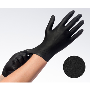 Soft nitril zwart poedervrij MAAT S