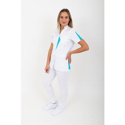 SHAE Damesjas Isla wit/blauw