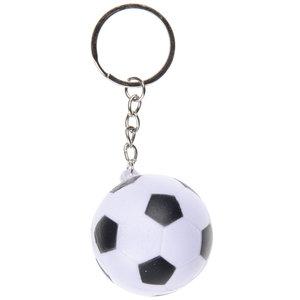 Voetbal Sleutelhanger Soft Zwart-Wit