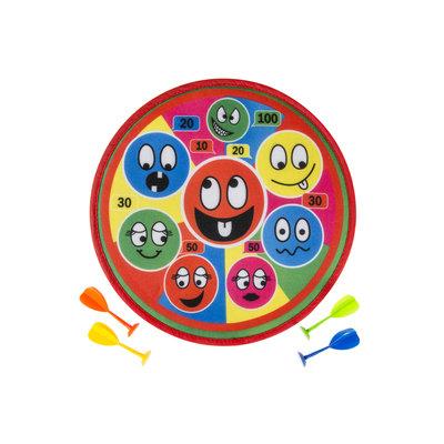 Dartspel Funny Faces (nog 1 stuk OP = OP)
