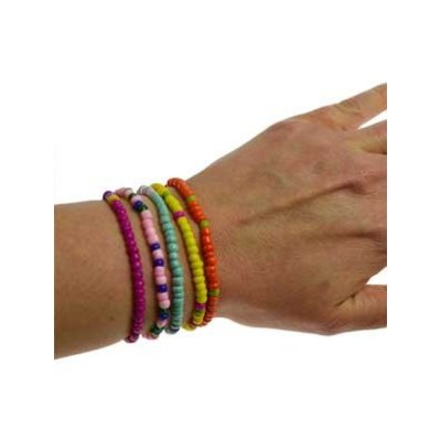 Armband kleur van glas