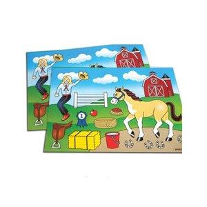 Stickervel Maak een Paarden Scène
