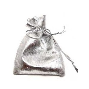 Geschenkzakje zilver ( nog 19 stuks op voorraad )