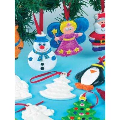 Kerstfiguren hangers keramiek