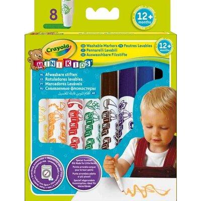 Crayola Viltstiften Crayola met bolle punt 8 stuks