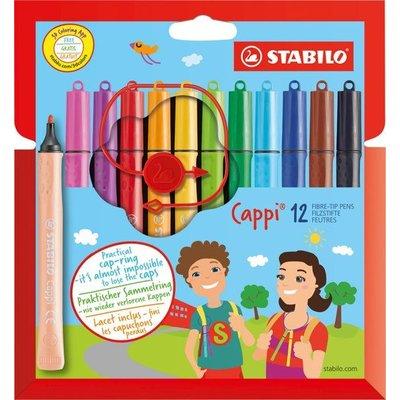 Stabilo Cappi Viltstiften 12 stuks