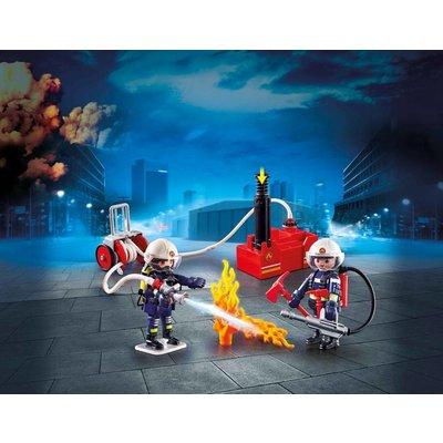 Playmobil Brandweerteam met waterpomp Playmobil 9468
