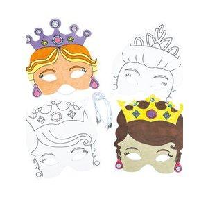 Kleur je masker prinses