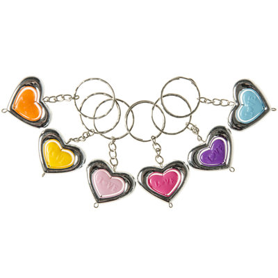 Sleutelhanger hart zilver