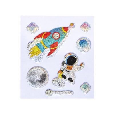 Stickervel space glitter