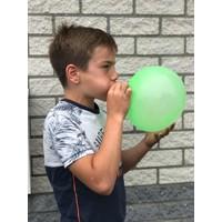 Opblaasbare puffer bal ( VOORAAD 11 stuks OP=OP)