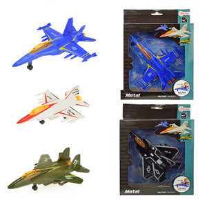 Vliegtuig metaal ( Voorraad: 48 stuks OP=OP!)