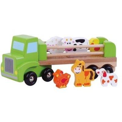 Vrachtwagen met dieren